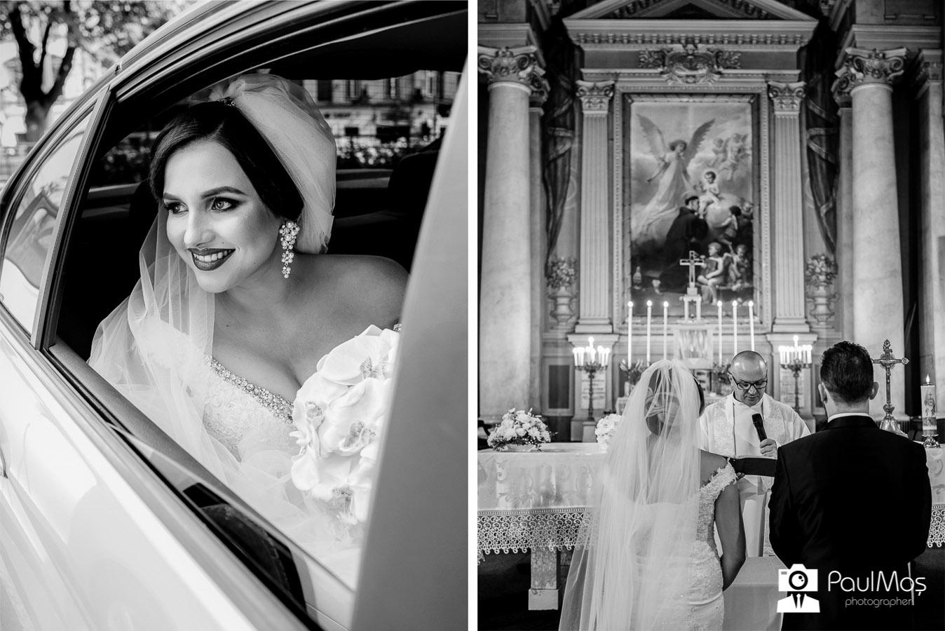 nunta arad, biserica, catedrala catolica arad, nunta