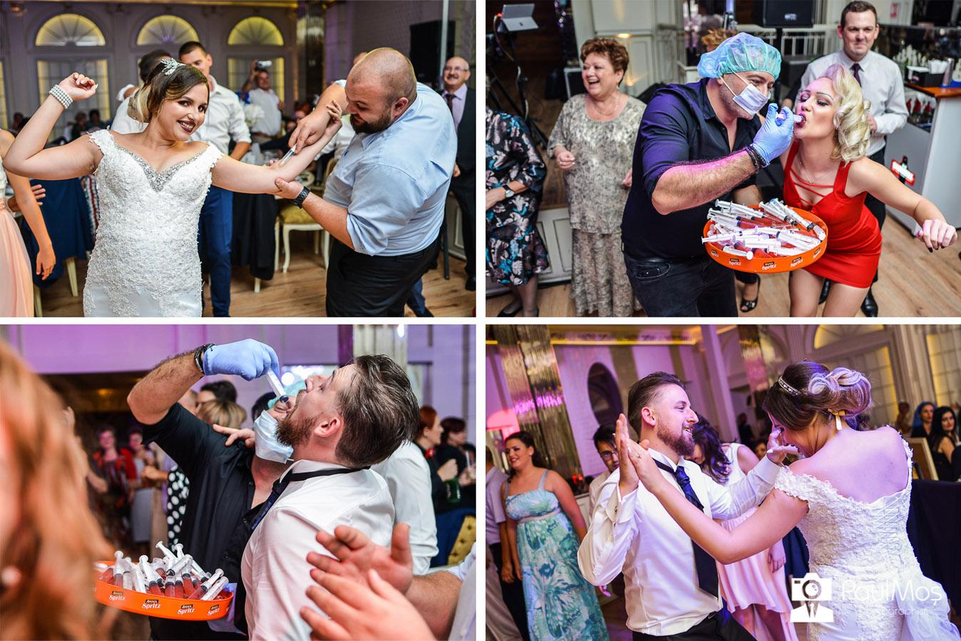 colaj foto nunta, fotografii nunta, distracție la nunta, barmani nunta arad, fotograf profesionist de nunta