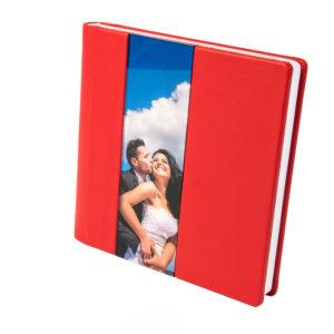 Album Foto coperta piele rosie, album coperta piele, piele naturala rosie, album luxury, album printat,